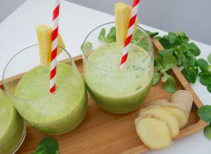 Ananas-Ingwer-Spinat-Drink_2   Rezept Dr. Alexa Iwan