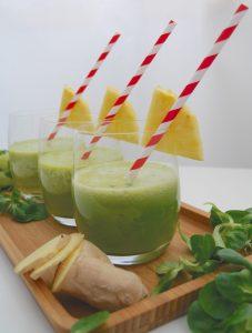 Ananas-Ingwer-Spinat-Drink_3   Rezept Dr. Alexa Iwan
