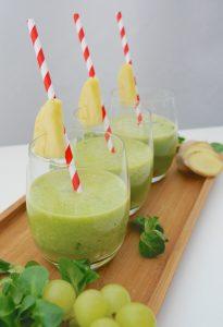 Ananas-Ingwer-Spinat-Drink_4   Rezept Dr. Alexa Iwan