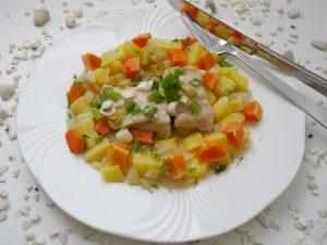 Wels mit Papaya-Gemüse_1 | Rezept Dr. Alexa Iwan