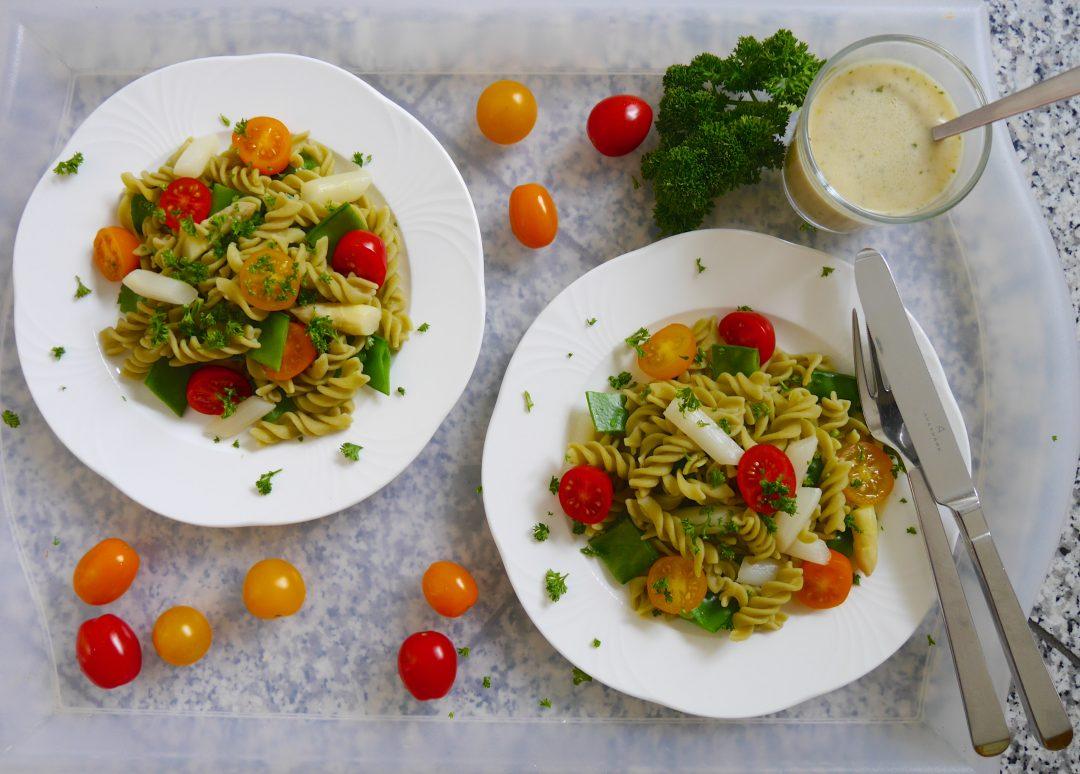 Salat mit Grüne Erbsen Pasta_5 | Rezept Dr. Alexa Iwan