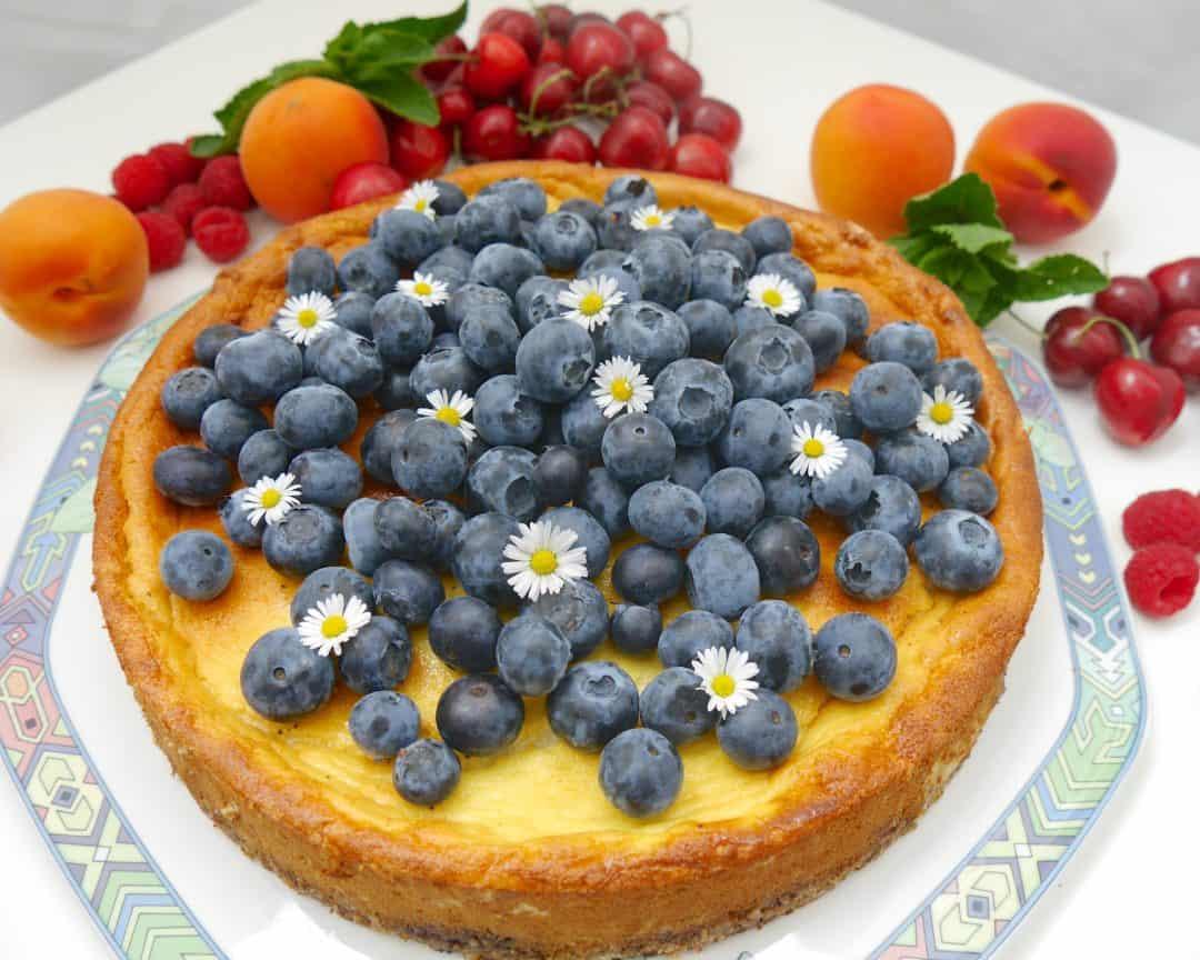 Blueberry Skyr Cake by Dr. Alexa Iwan