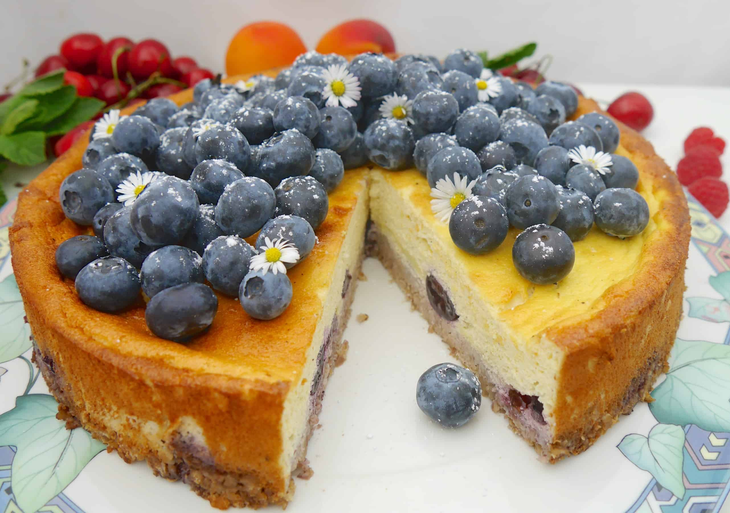 Blueberry Skyr Cake by Dr. Alexa Iwan