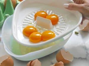 Eiertrenner von keeeper zum Rezept Süßkartoffel-Kuchen von Dr. Alexa Iwan