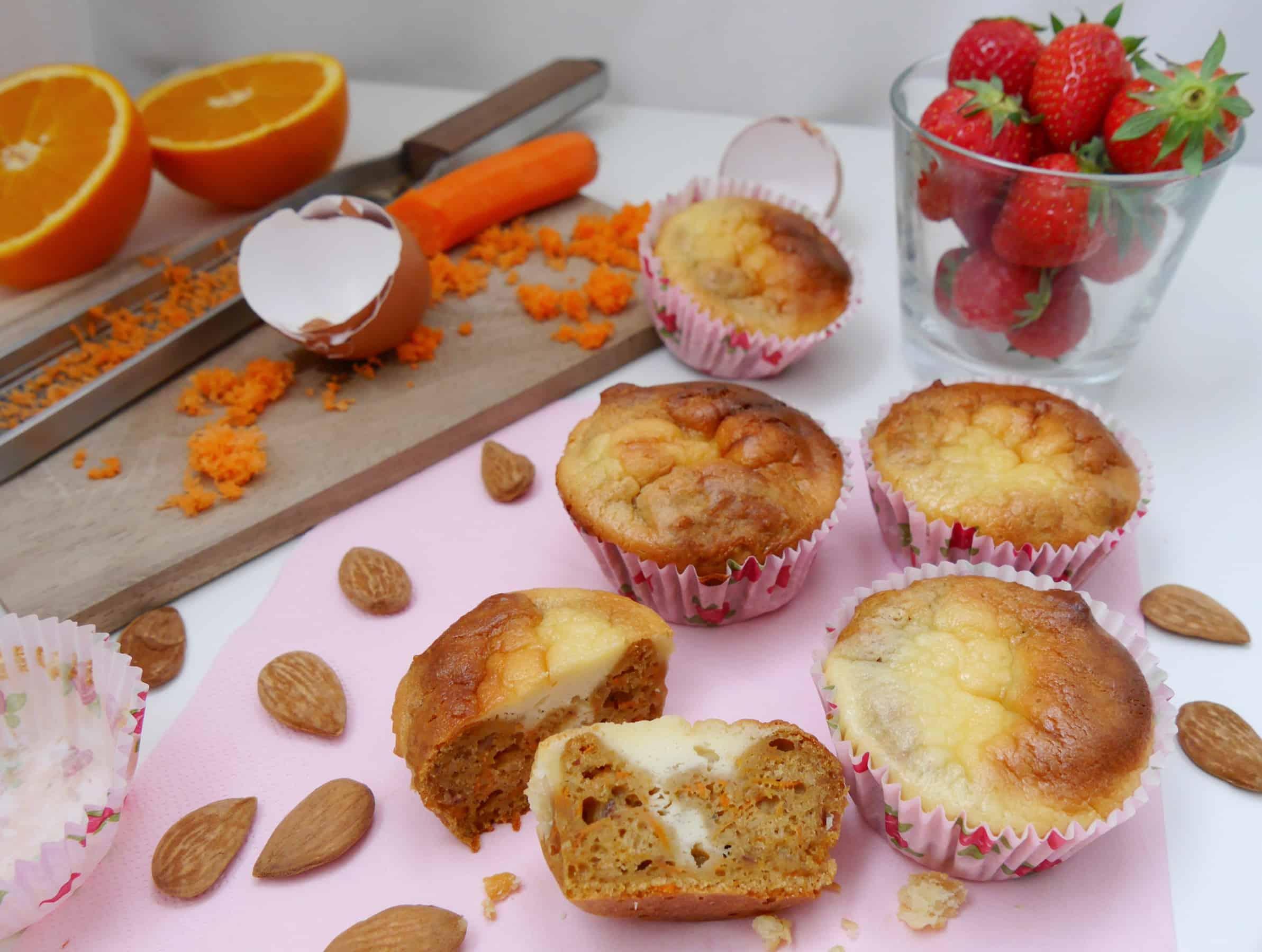 Karotten-Käsekuchen-Muffins by Dr. Alexa Iwan
