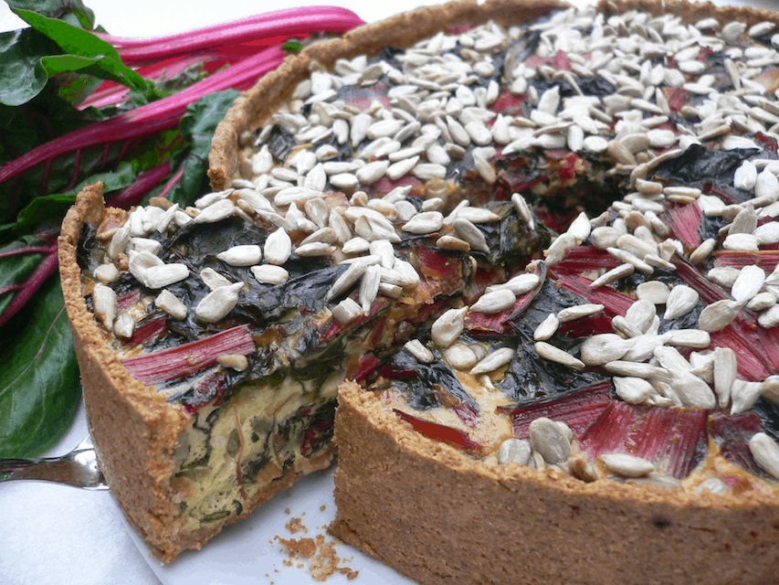 Lauchquiche mit rotem Mangold by Dr. Alexa Iwan