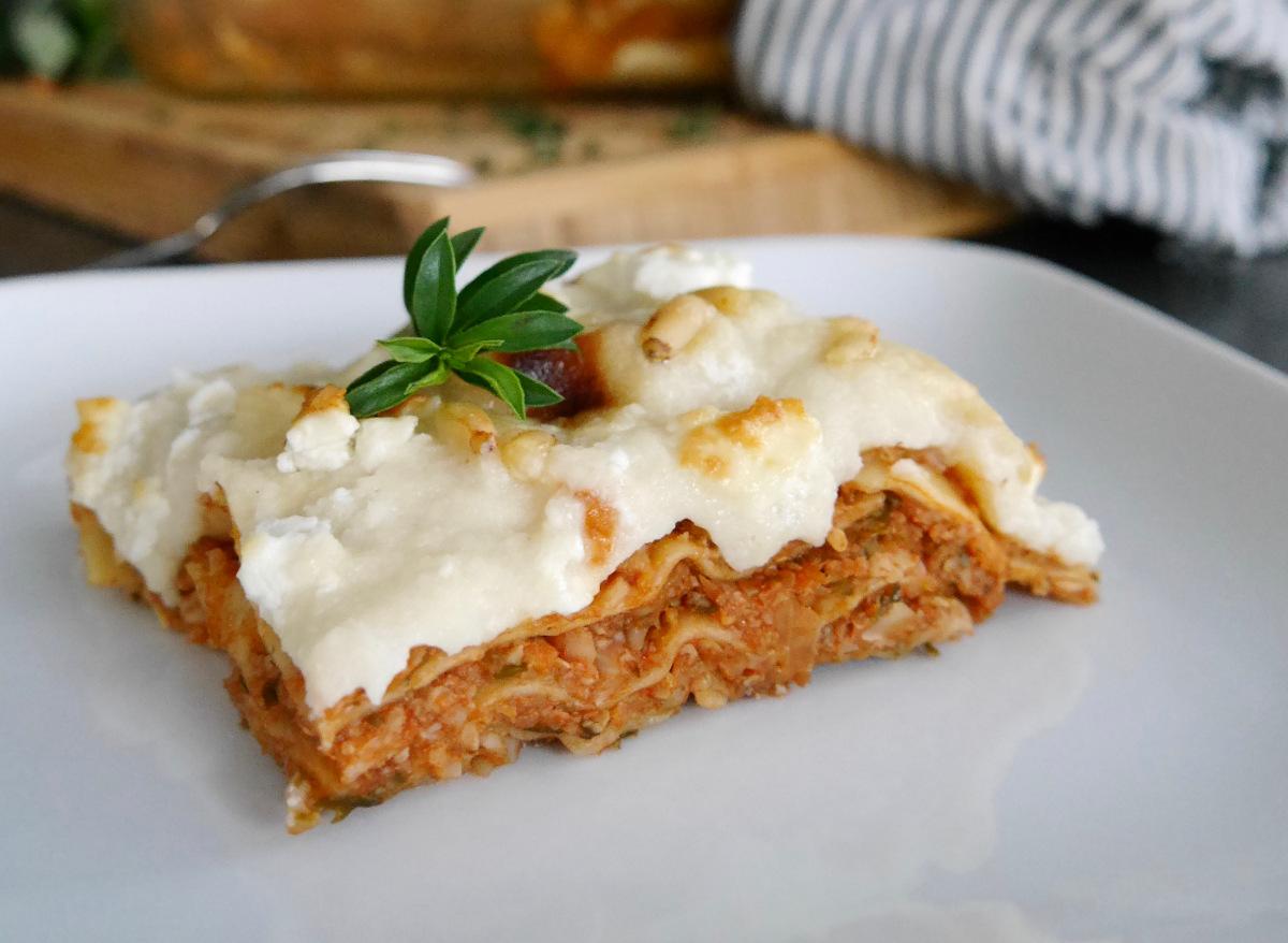Lasagne mit Haferdrink Alpro Ohne Zucker