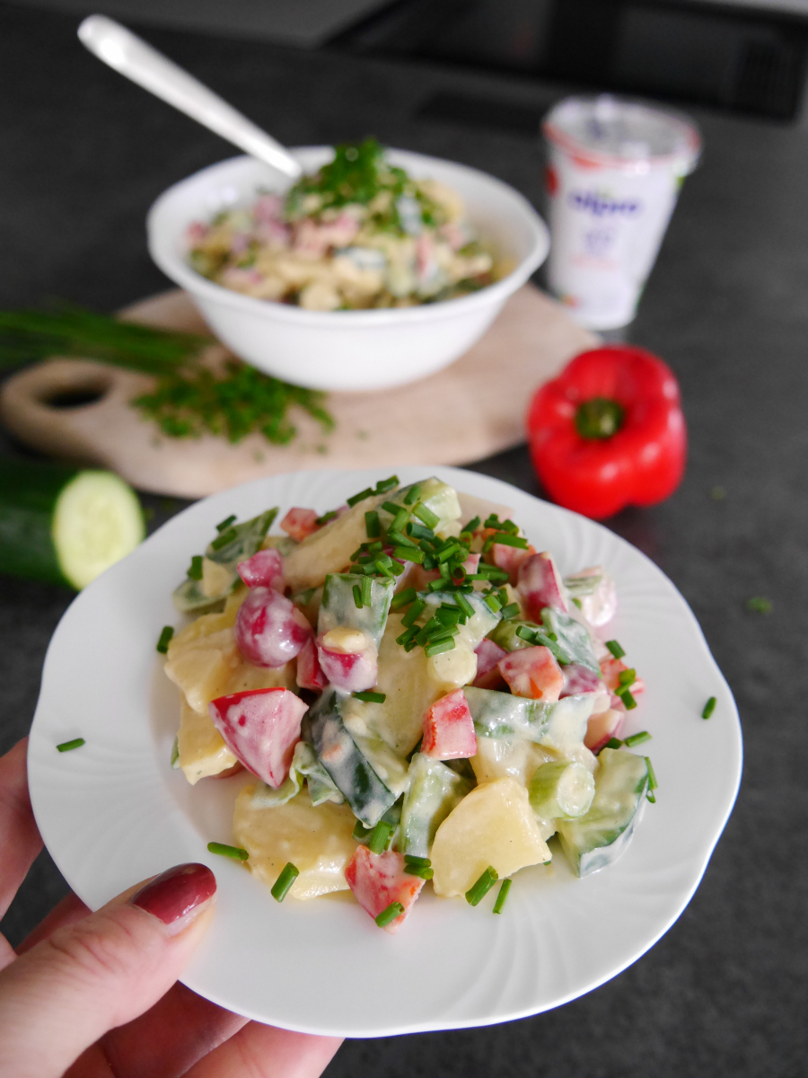 Veganer Kartoffelsalat mit Alpro und weniger Zucker